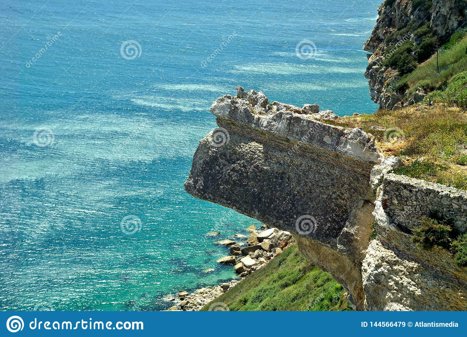 Wonderful landscape at the Atlantic west coast in Portugal