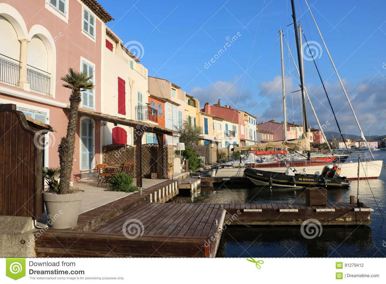 Wonderful landscape of Port Grimaud on the French Riviera in France