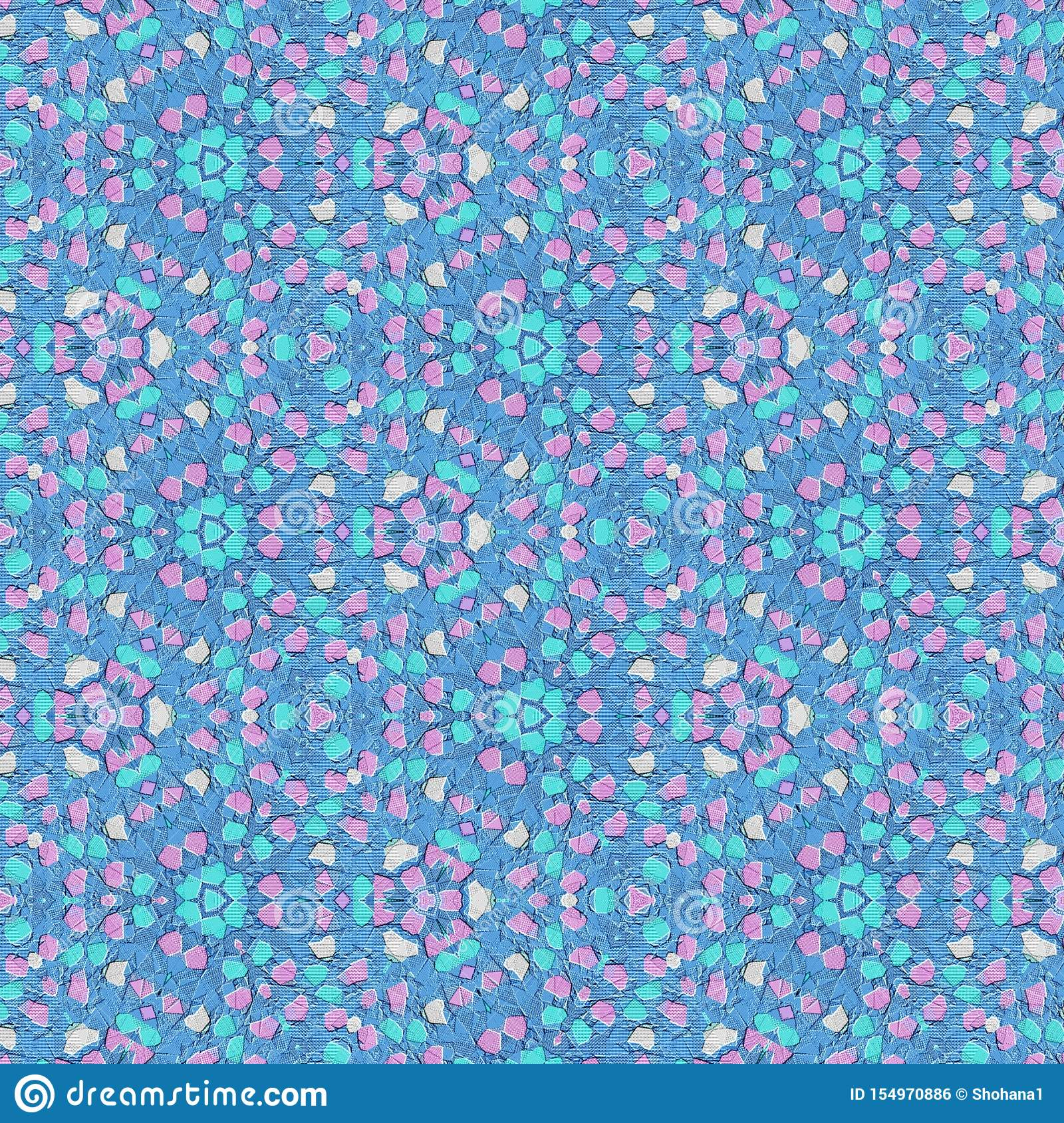 Wonderful Light Blue And Pink Floral Abstract Textured