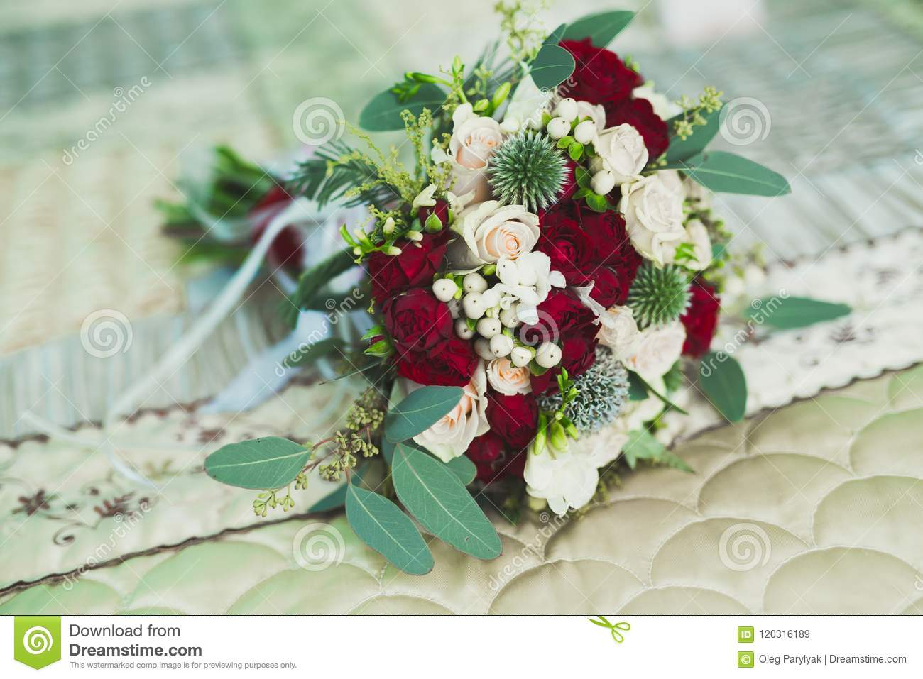 Wonderful luxury wedding bouquet of different flowers stock image wonderful luxury wedding bouquet of different flowers izmirmasajfo