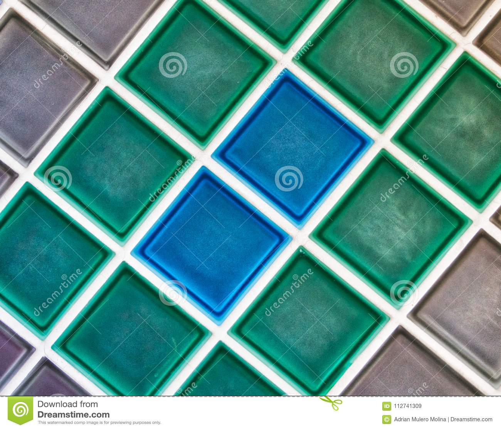 Wonderful Pattern And Colorful Mosaic Ceramic Tiles. Stock Image ...
