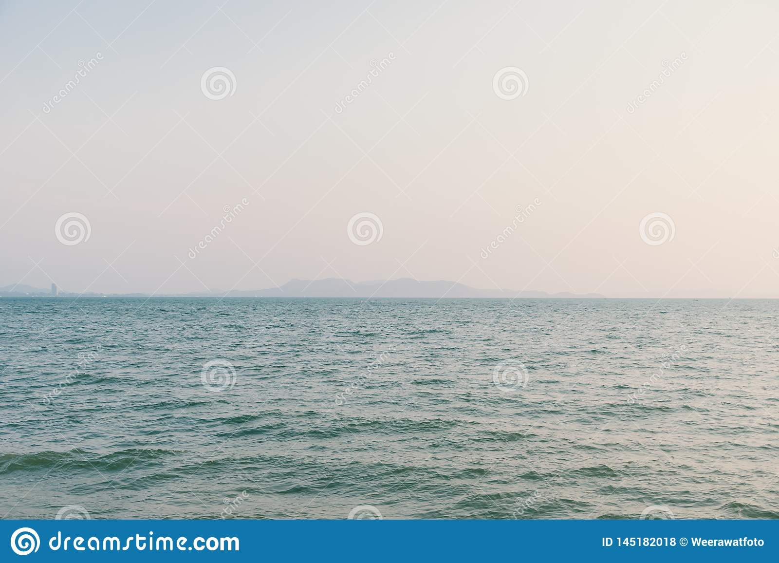 Romantic summertime seascape with crystal clear sea