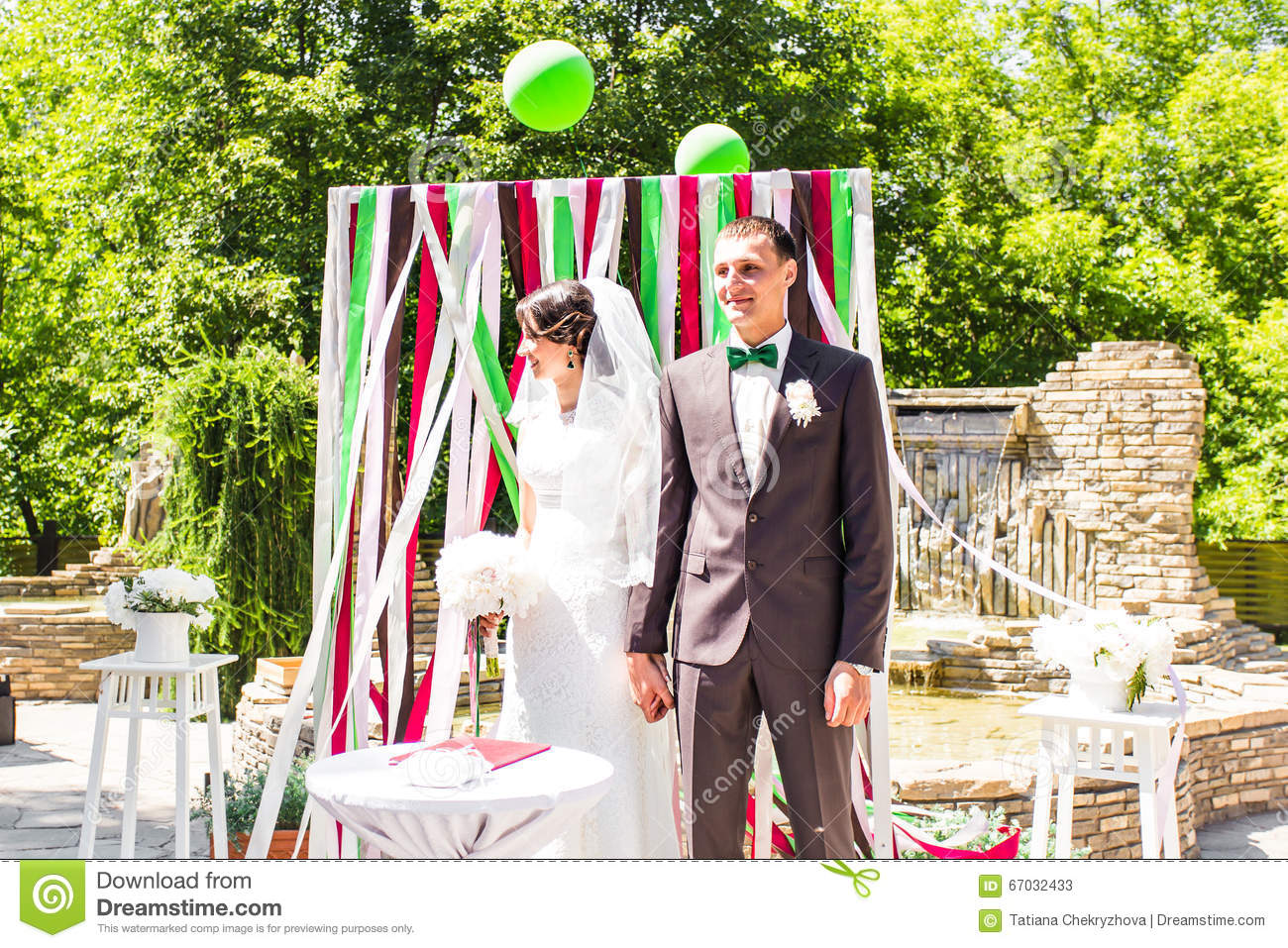 Wedding Arch In The Garden Stock Photography