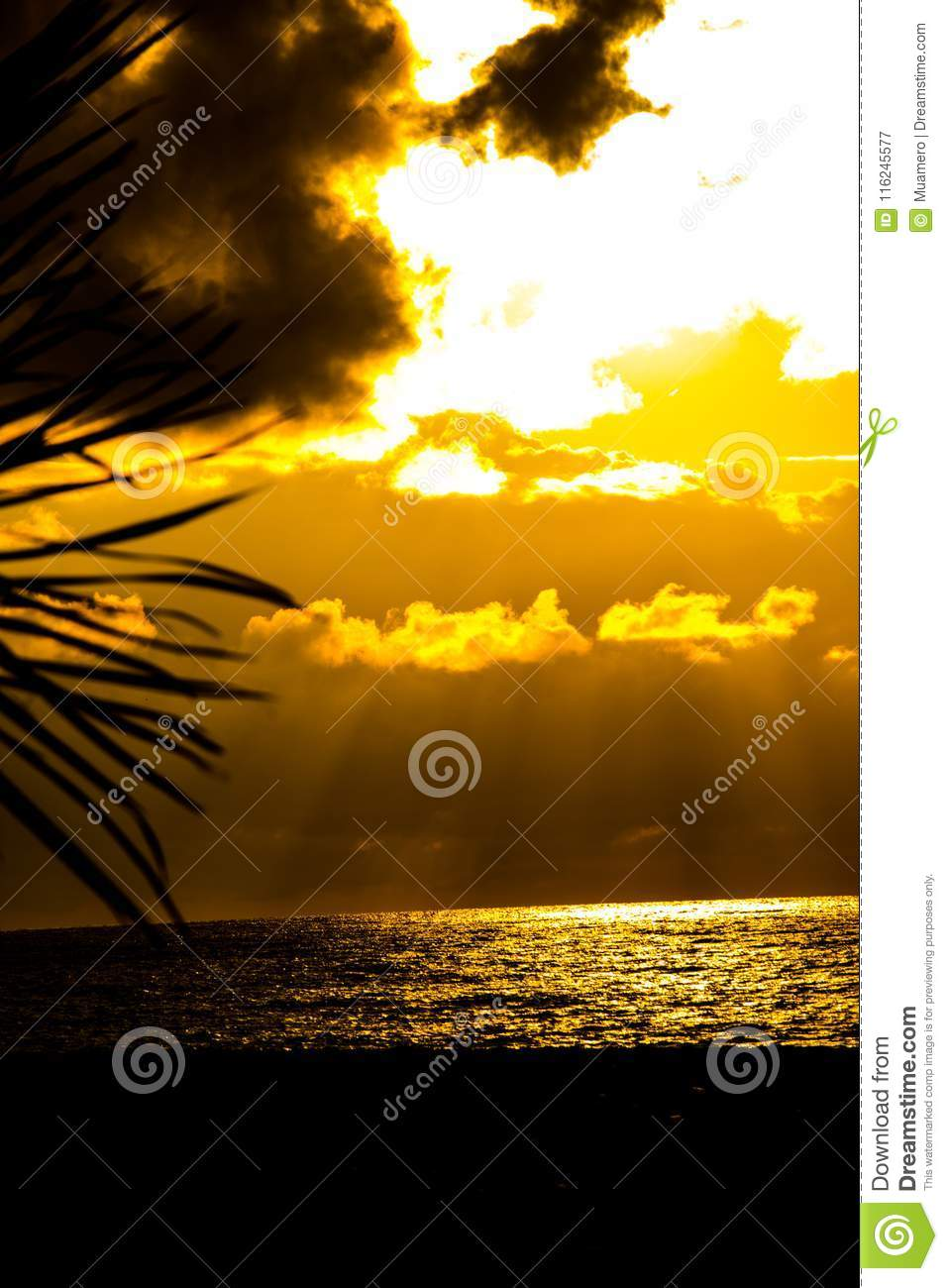 Download Wonderful Sunset Above The Black Sea Looking From The Coast Stock Image - Image of sand, famous: 116245577