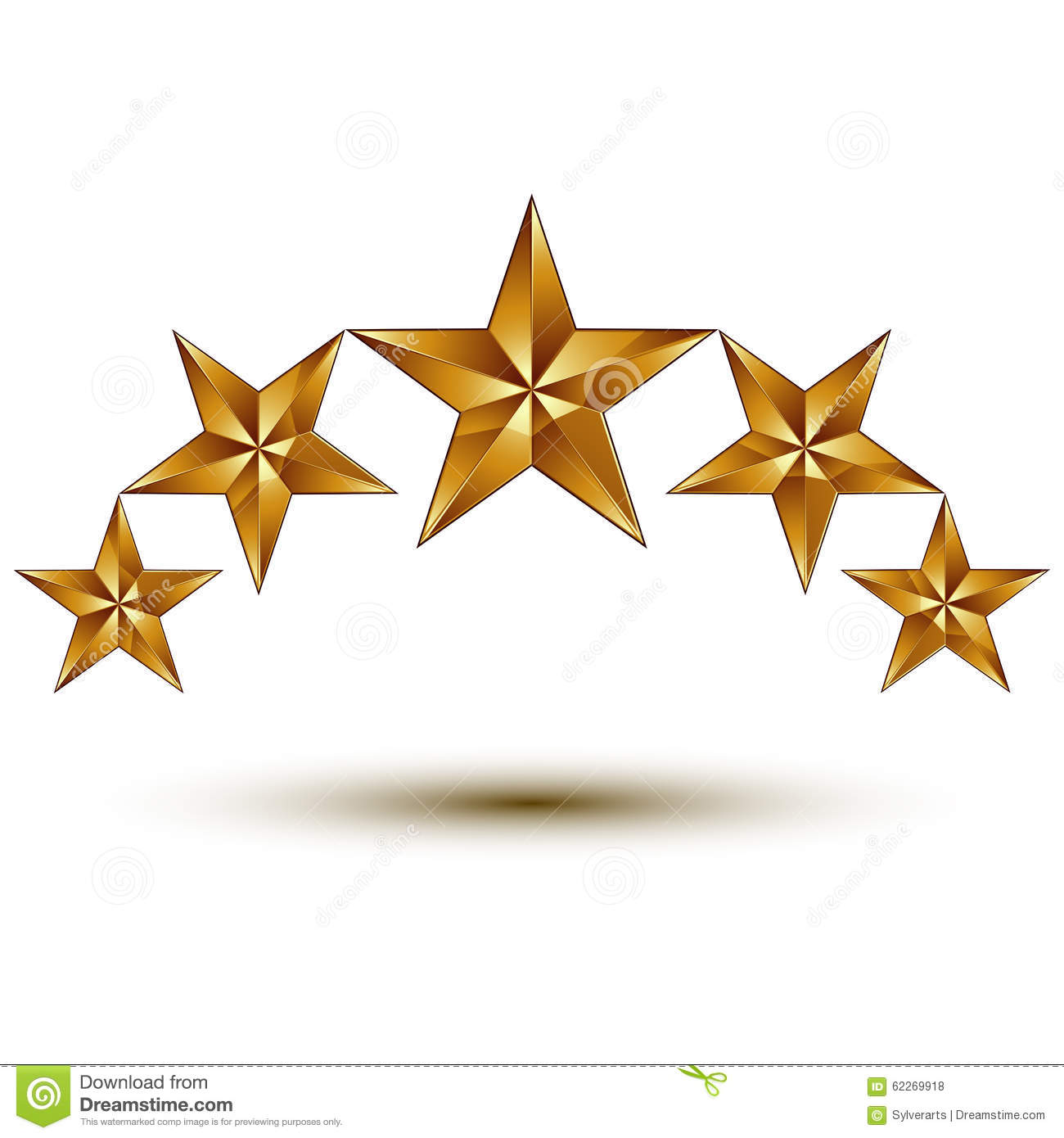 Wonderful Vector Graphic Element With Golden Stars Symbol Stock