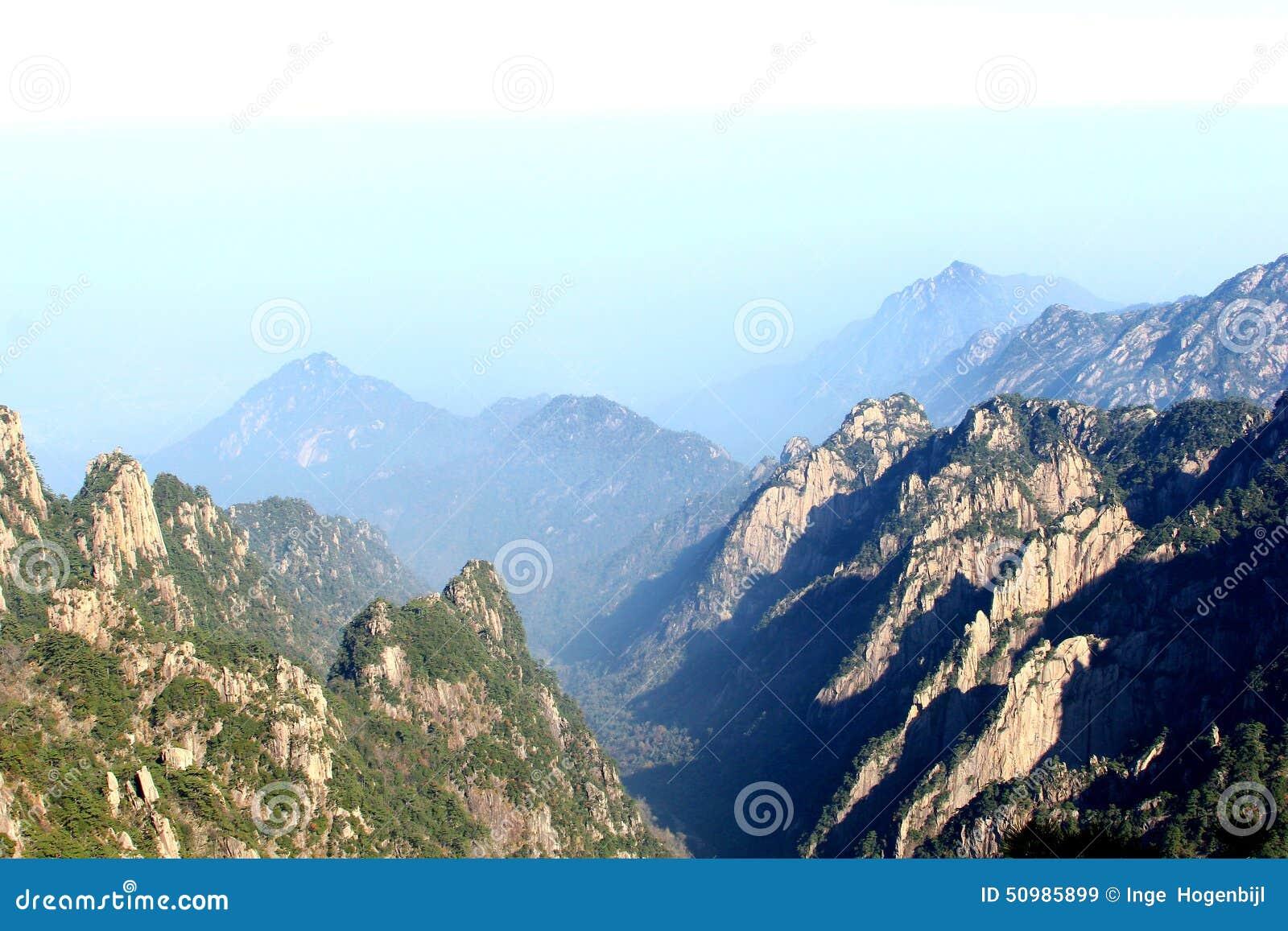 Wonderful view at the Huangshan Yellow Mountains, China