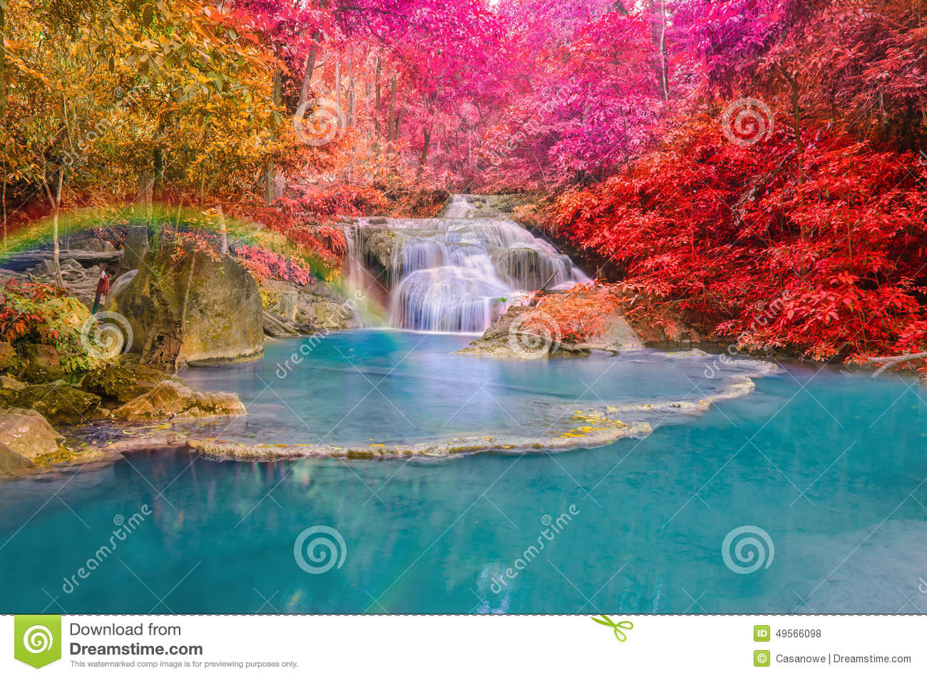 wonderful deep forest waterfall thailand images hd best