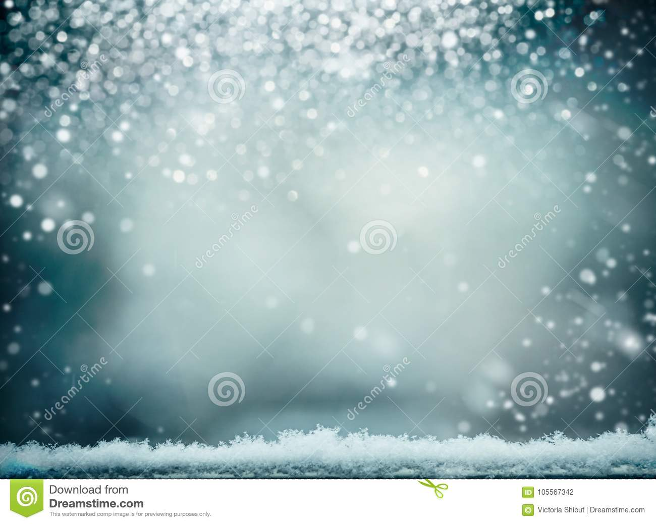 Wonderful winter background with snow. Winter holidays and Christmas