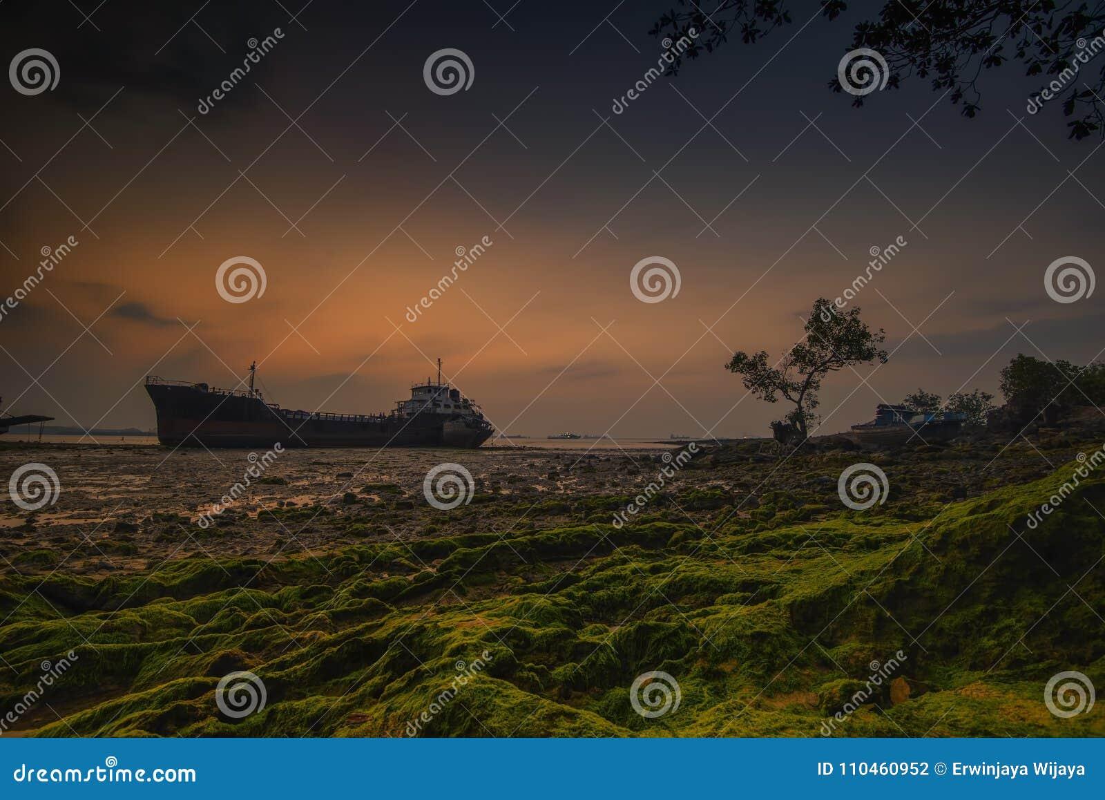 Wonderfull Sunset2 Batam ö Indonesien asia
