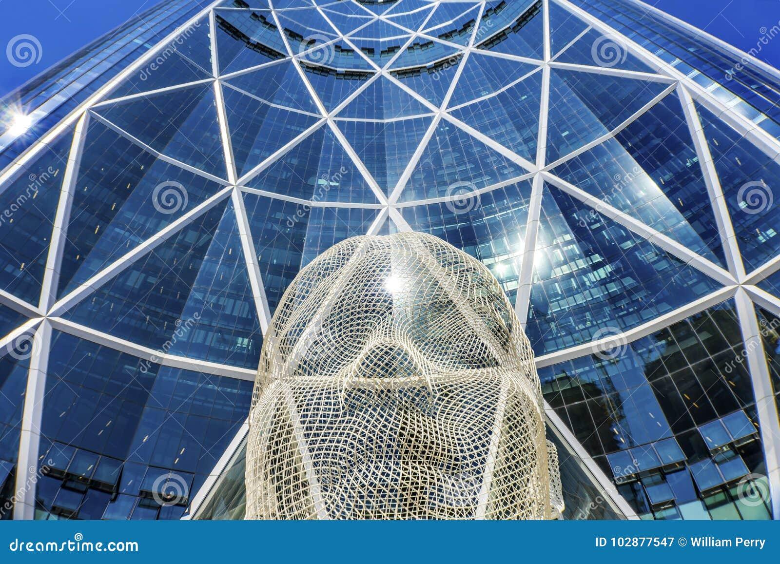 Wonderland Sculpture Bow Building Calgary Alberta Canada Editorial ...