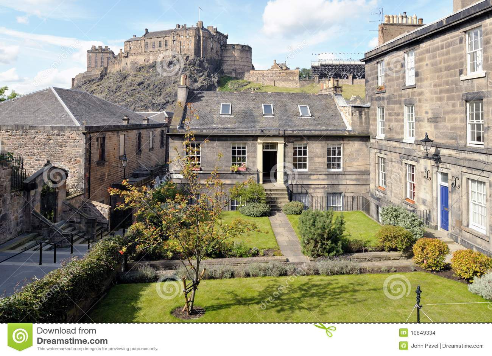 Woningen, Browns Plaats, Edinburgh, Schotland