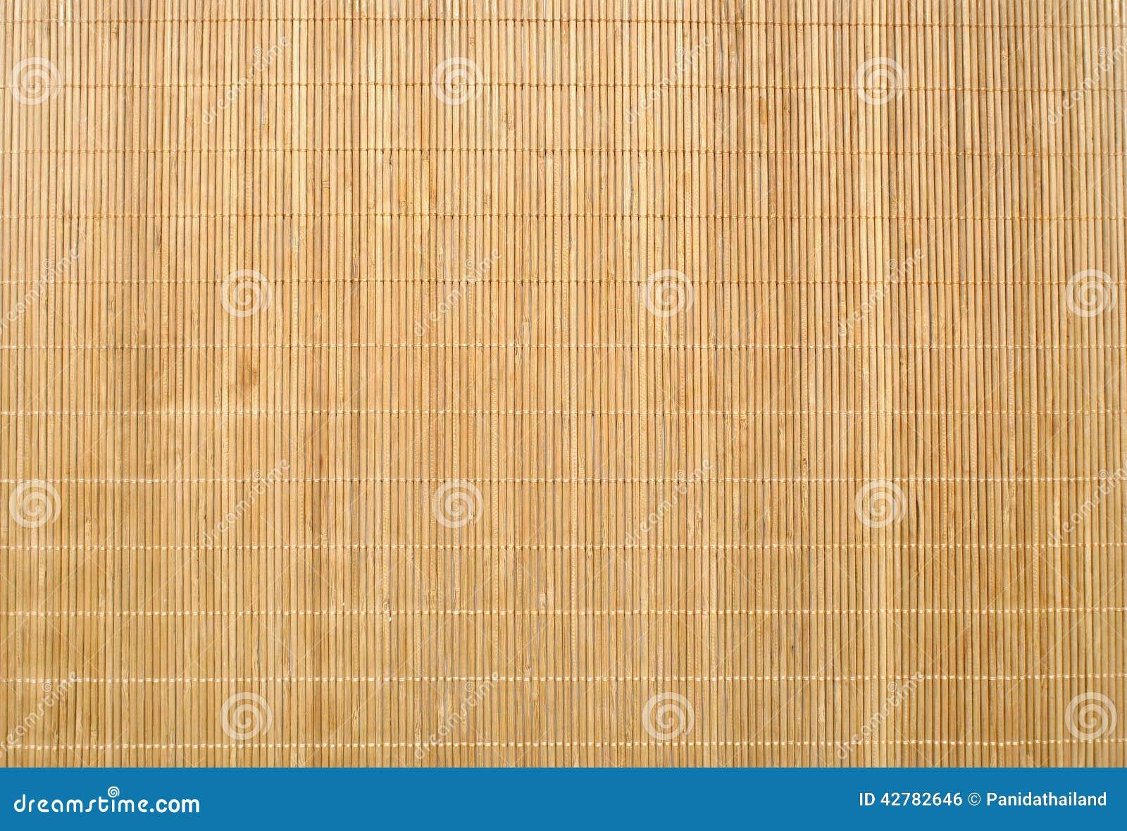 Wood Bamboo Mat Texture Background