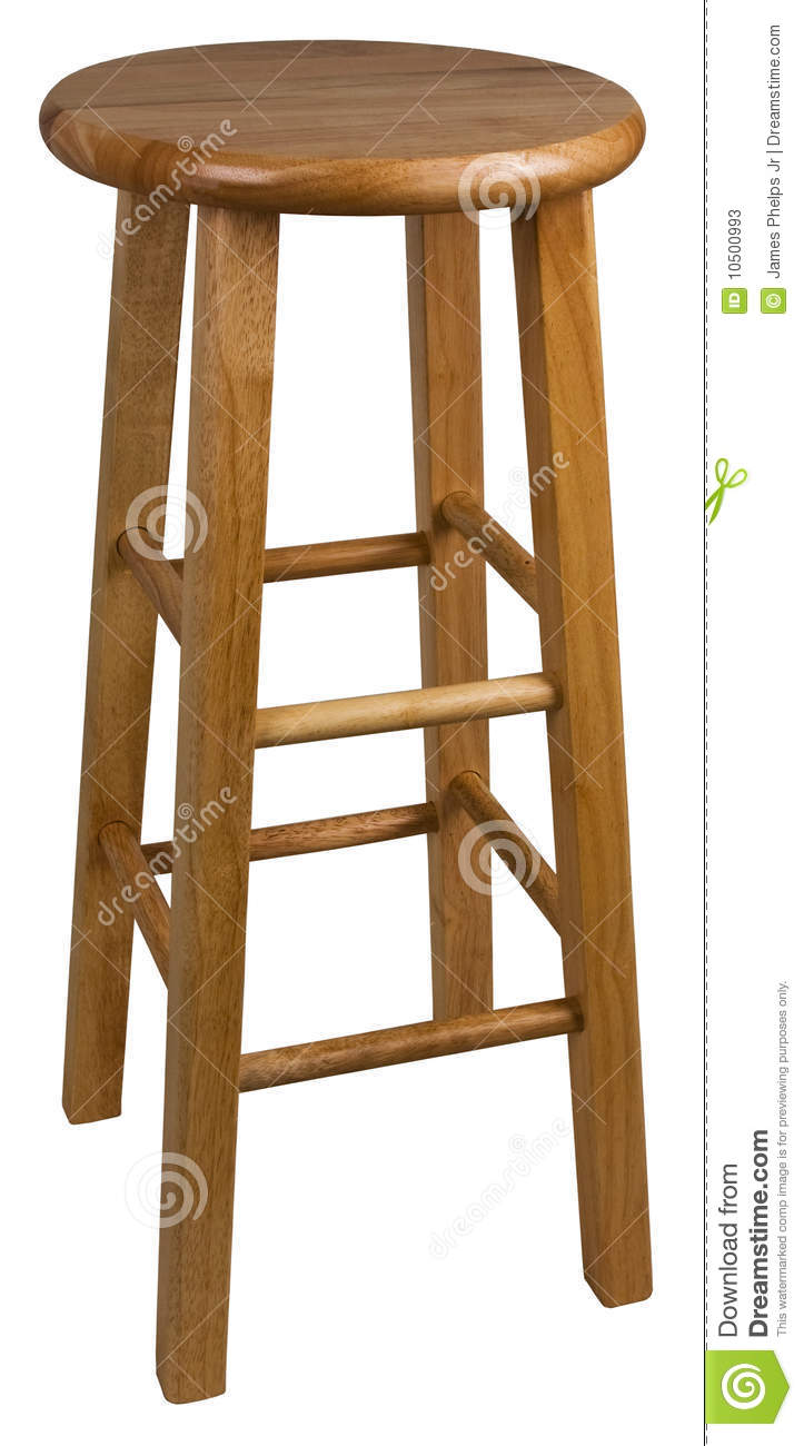 Wood Bar Stool Stock Photos Image 10500993