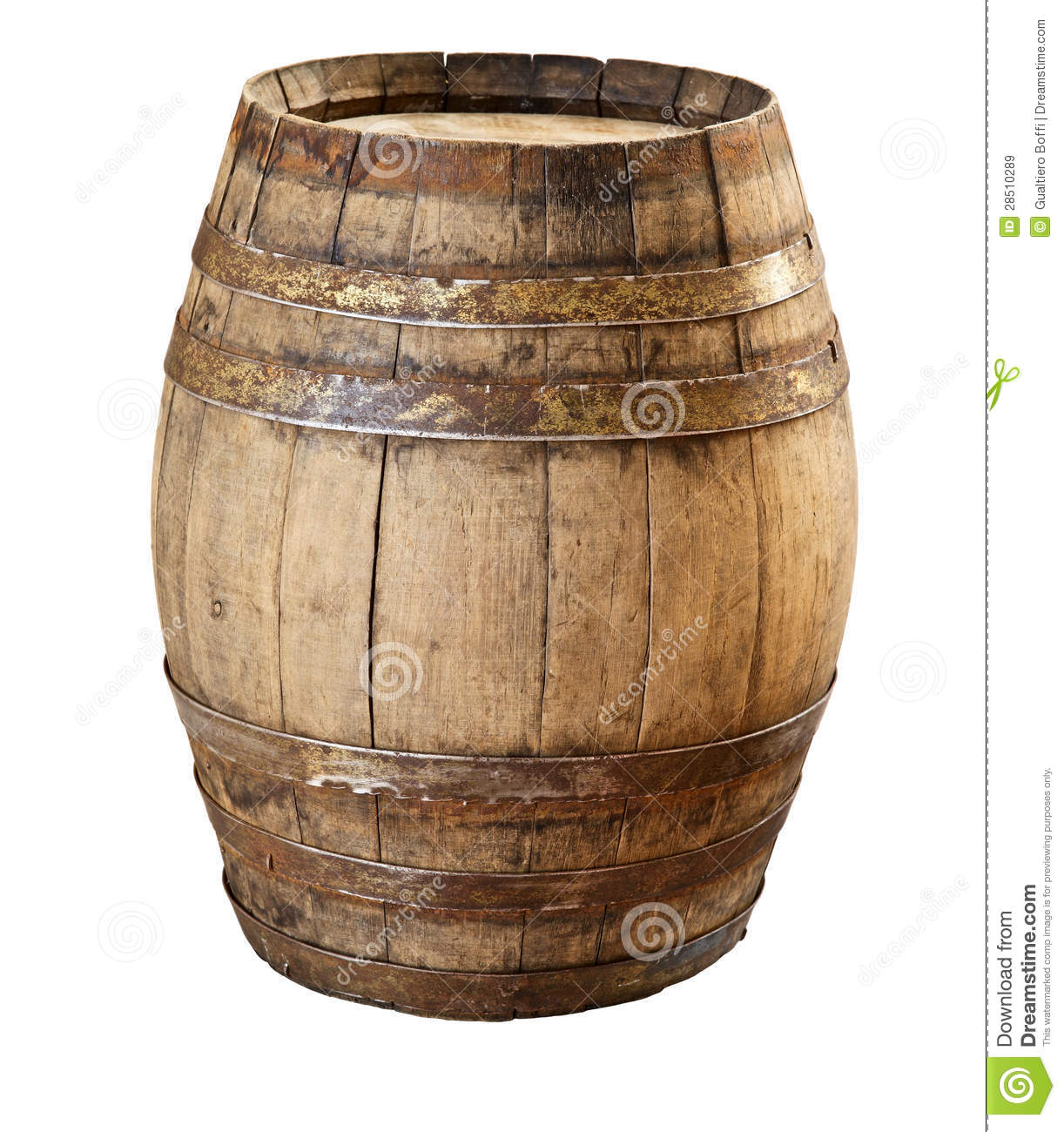 Wood Barrel Royalty Free Stock Images - Image: 28510289