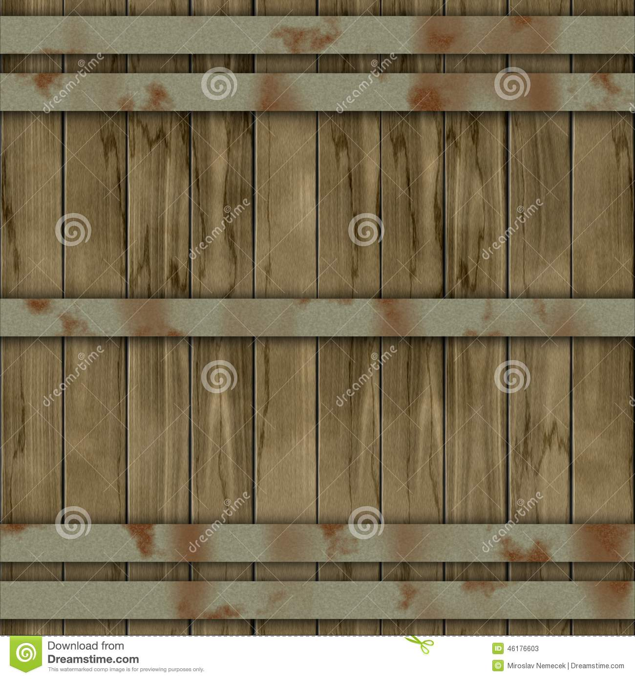 Wood Barrel Generated Seamless Hires Texture Stock