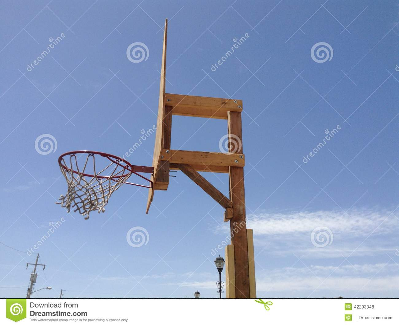 Wood basketball hoop stock photo image 42203348 for How to build a basketball goal
