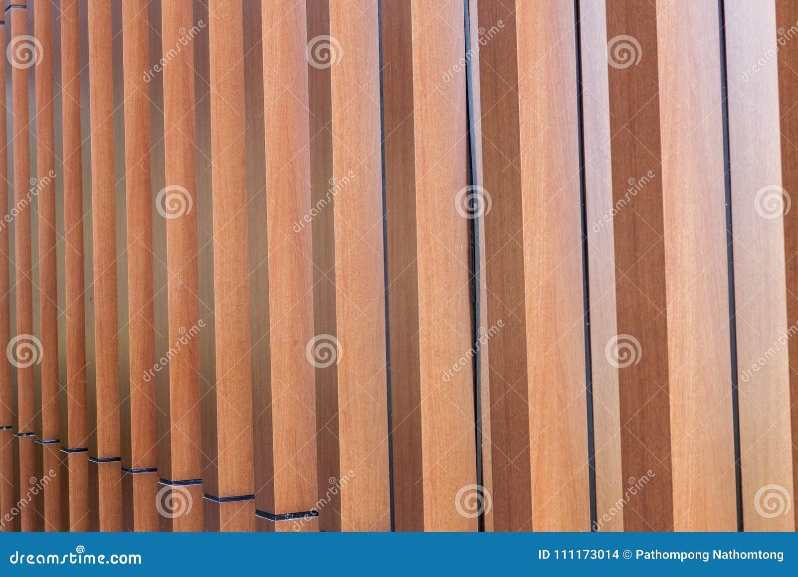 Wood battens slat of the modern building