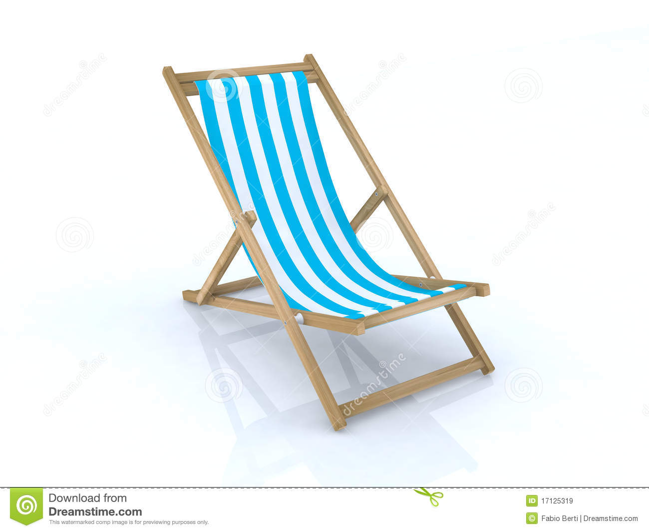 Wood Beach Chairs Various Colors Royalty Free Stock