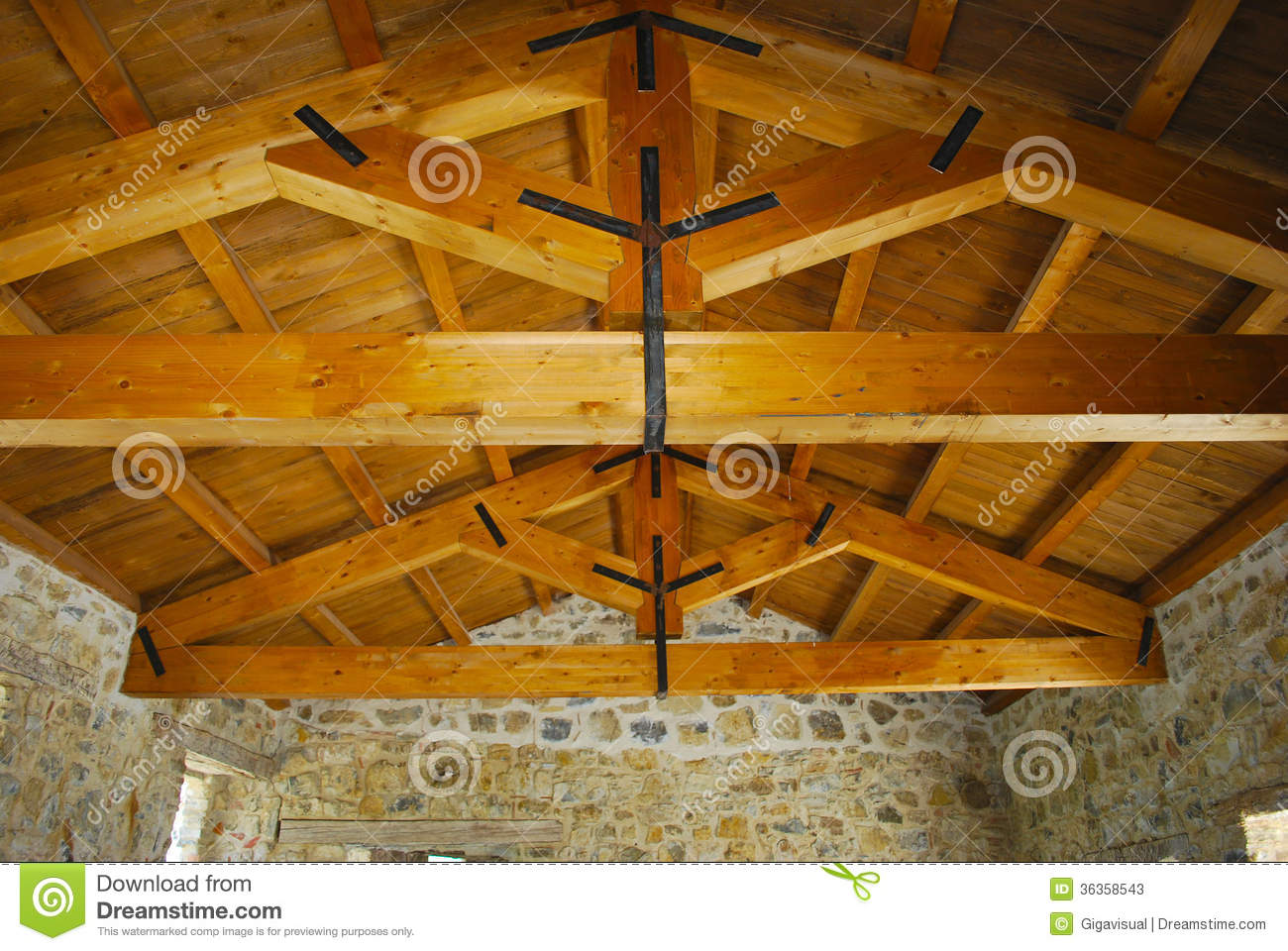 Wood Beams Stock Photos - Image: 36358543
