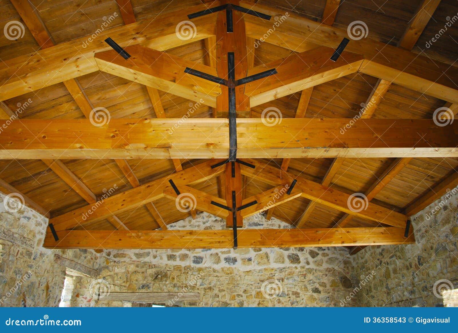 Wood beams stock image image of sostegno durable eterno for Illuminazione travi a vista