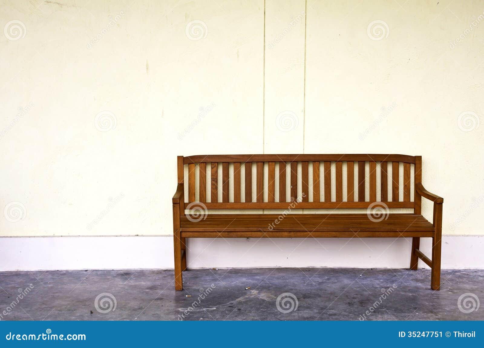 Unique Wood Bench Against Concrete Wall  Photo  Free Download