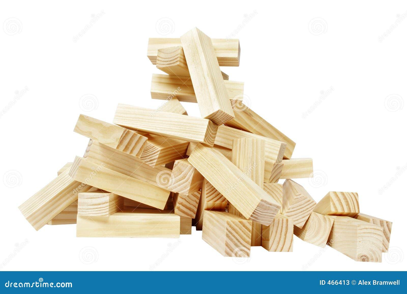 Wood Block Clip Art ~ Wood block pile stock photos image