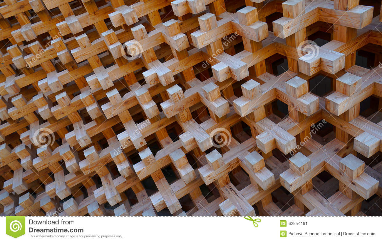 wood block structure of wall facade stock photo - image: 62954185