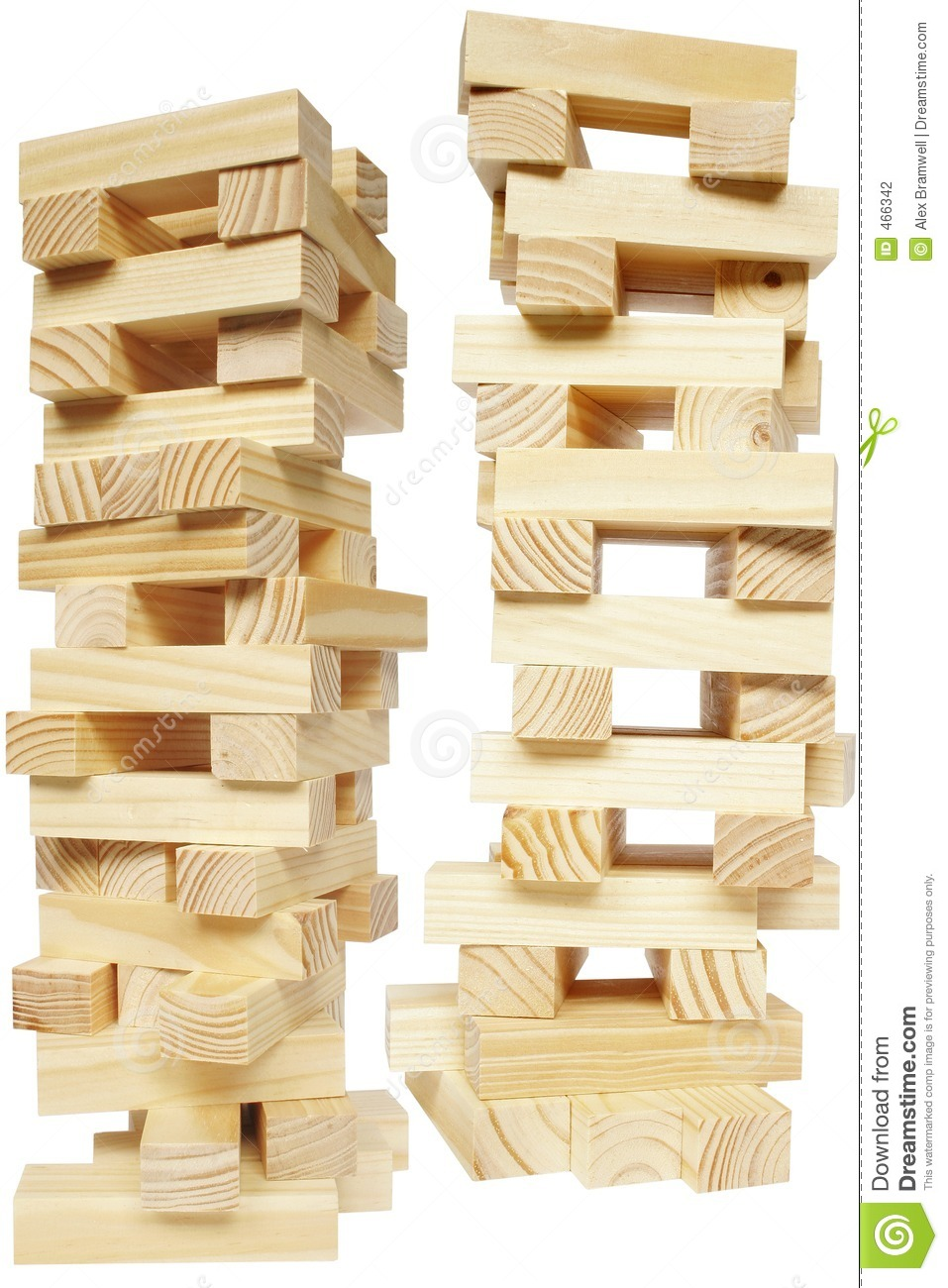Download Wood Block Tower stock photo. Image of wooden, sawmill - 466342