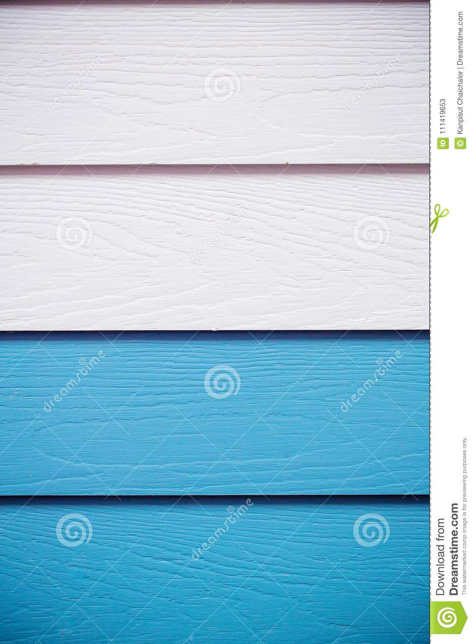 Wood blue background.blue Synthetic wood wall texture use for background.Colorful wooden board painted in blue.