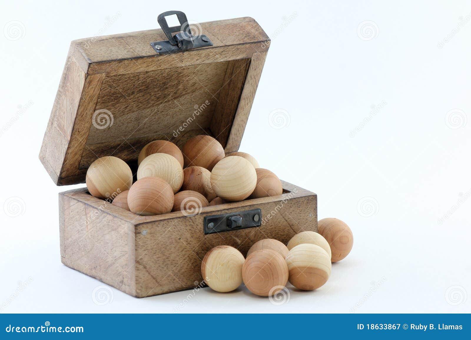 Wood Box and Cedar Balls