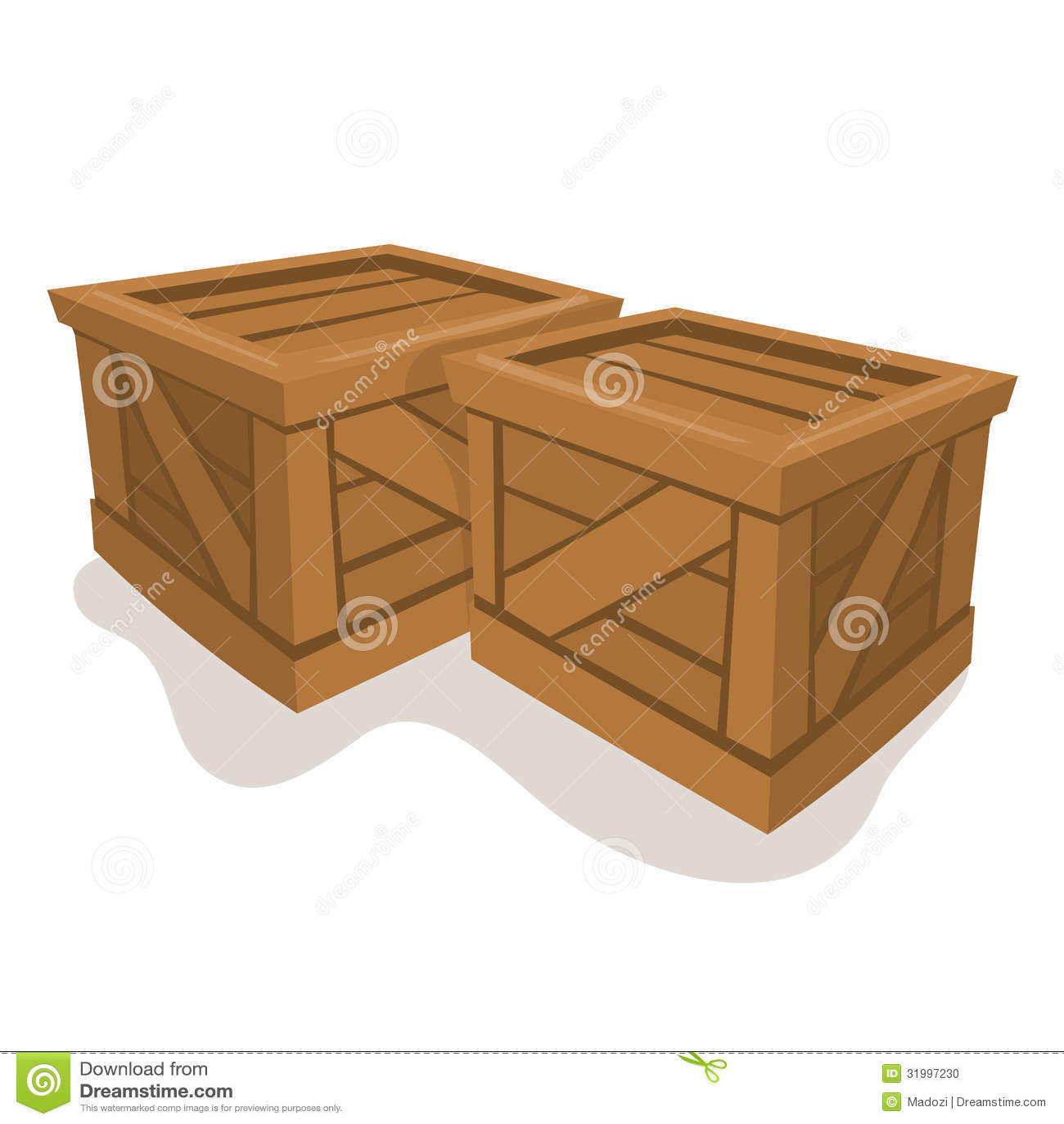 Wood Box Vector Illustration Stock Photo - Image: 31997230
