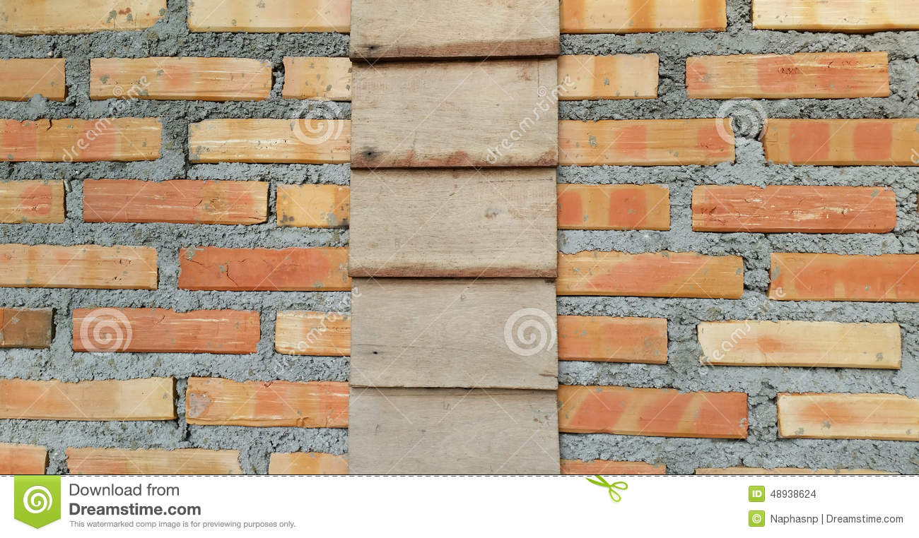Wood and brick wall stock photo image 48938624 for Brick and wood home designs