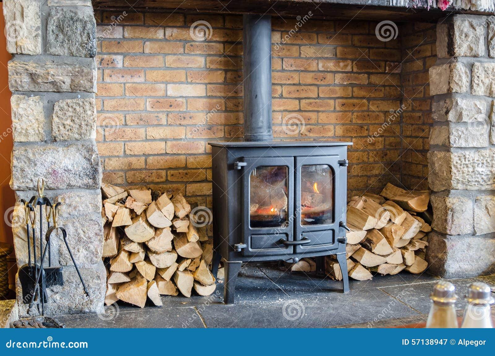 Wood Burning Stove Stock Image Image Of Fuel Firewood