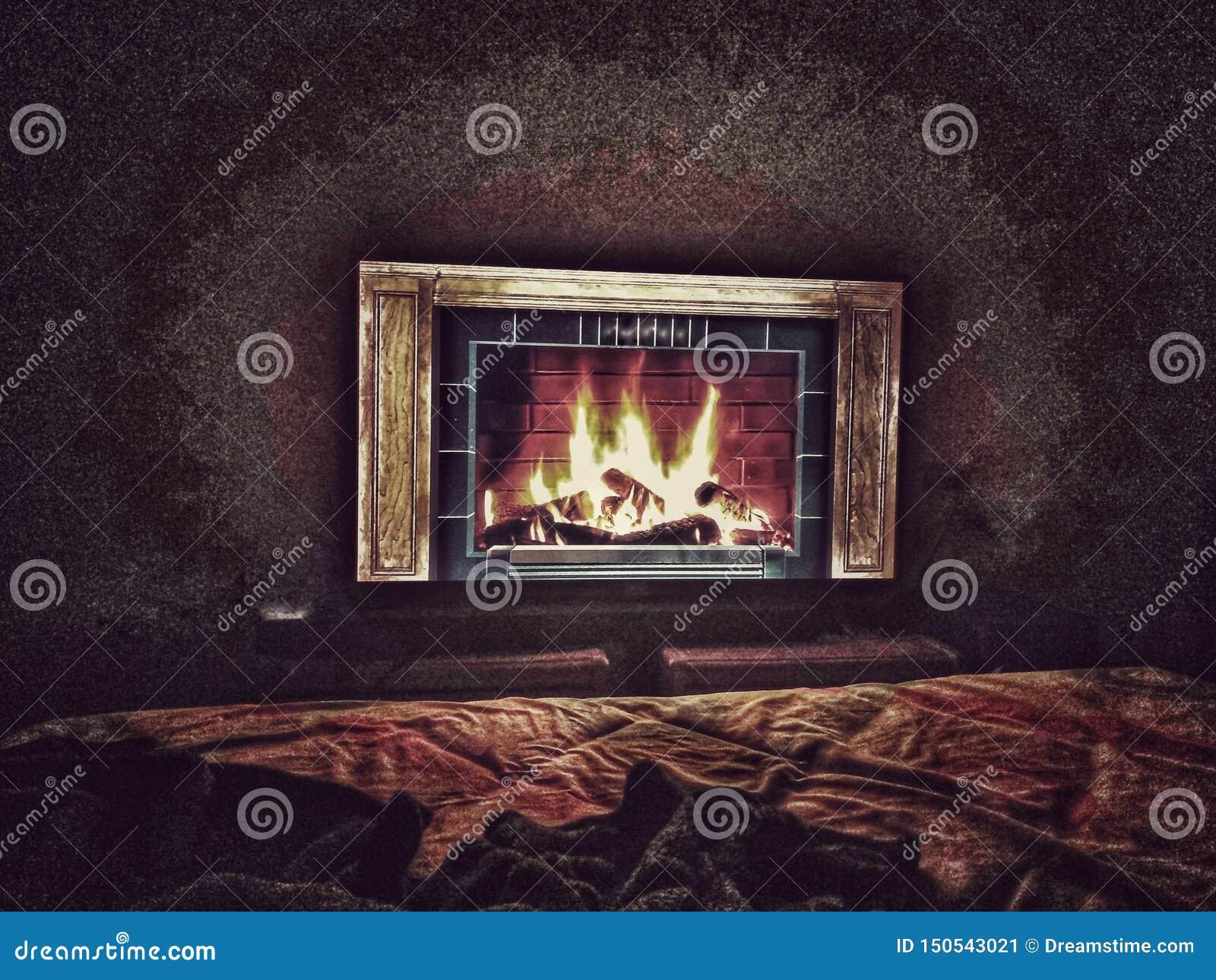 Chimney indoor to heat up