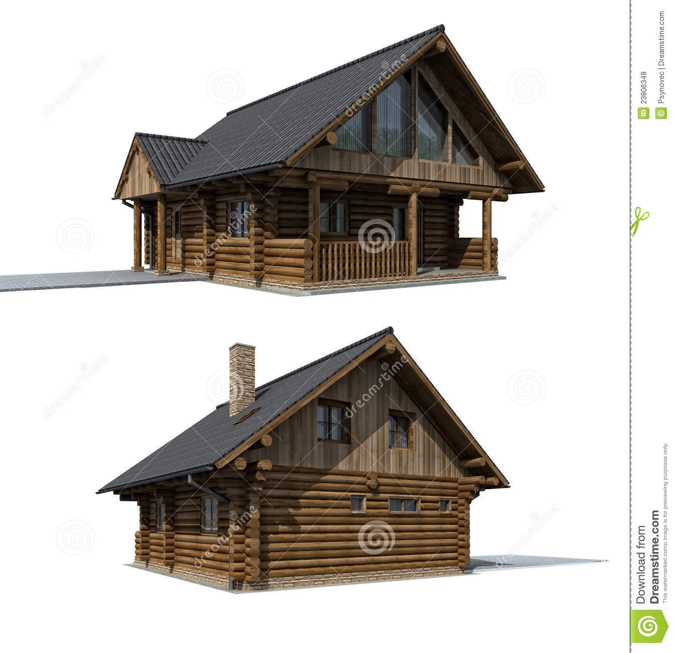 Wood cabine cottage royalty free stock photos image for Witches cottage house plans