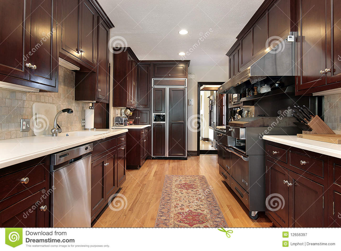 wood cabinet kitchen royalty free stock photography image 12656397