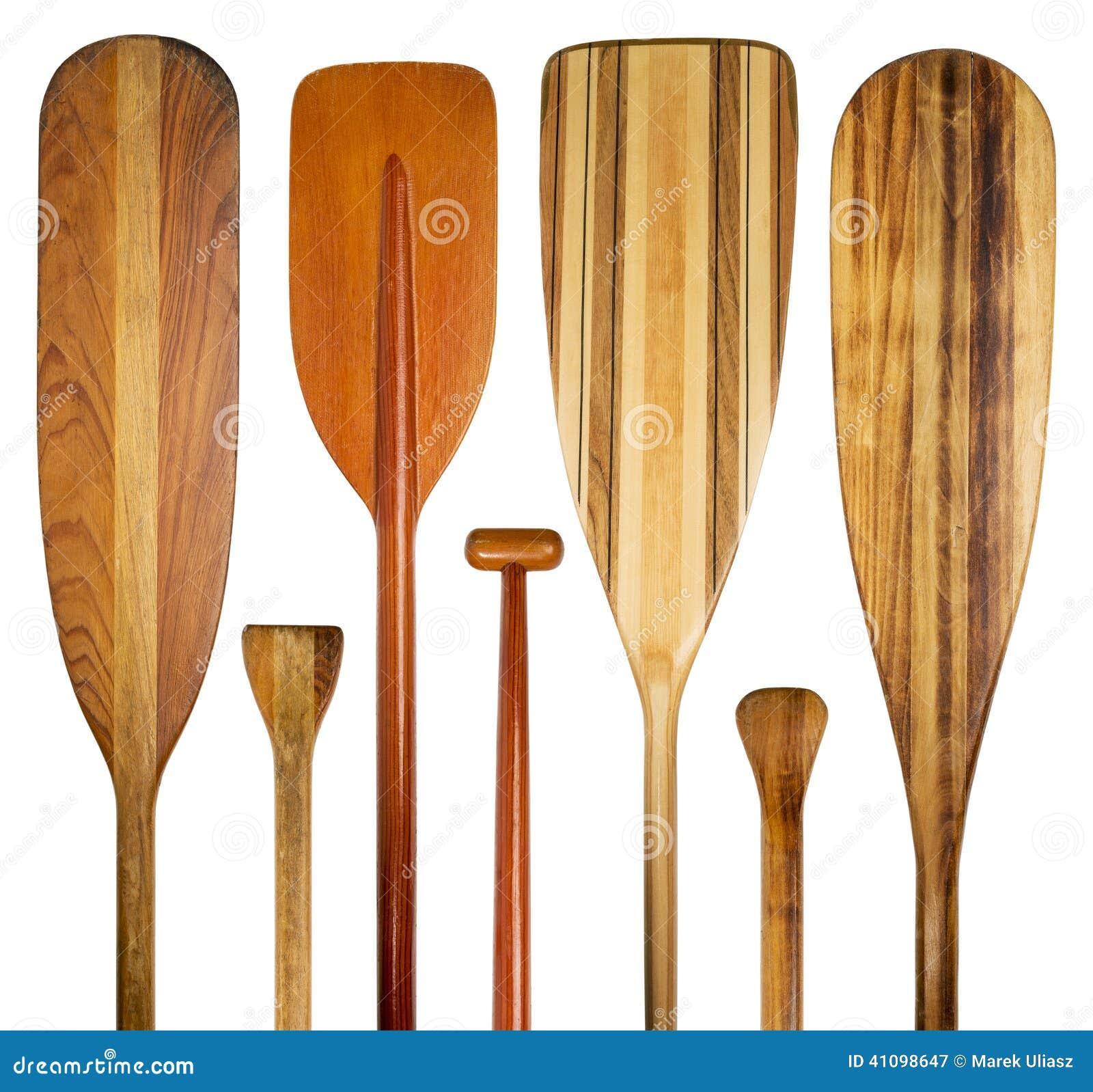 Canoe Paddle Blades : Wood canoe paddles abstract stock image