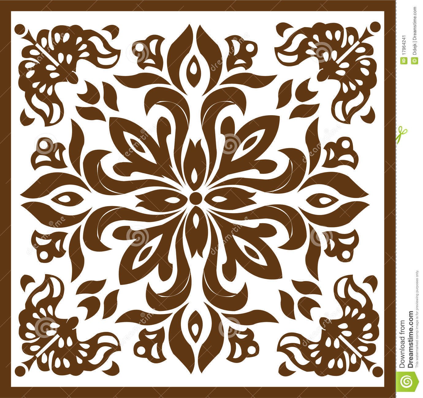 Wood carving stock vector image of indonesia motive