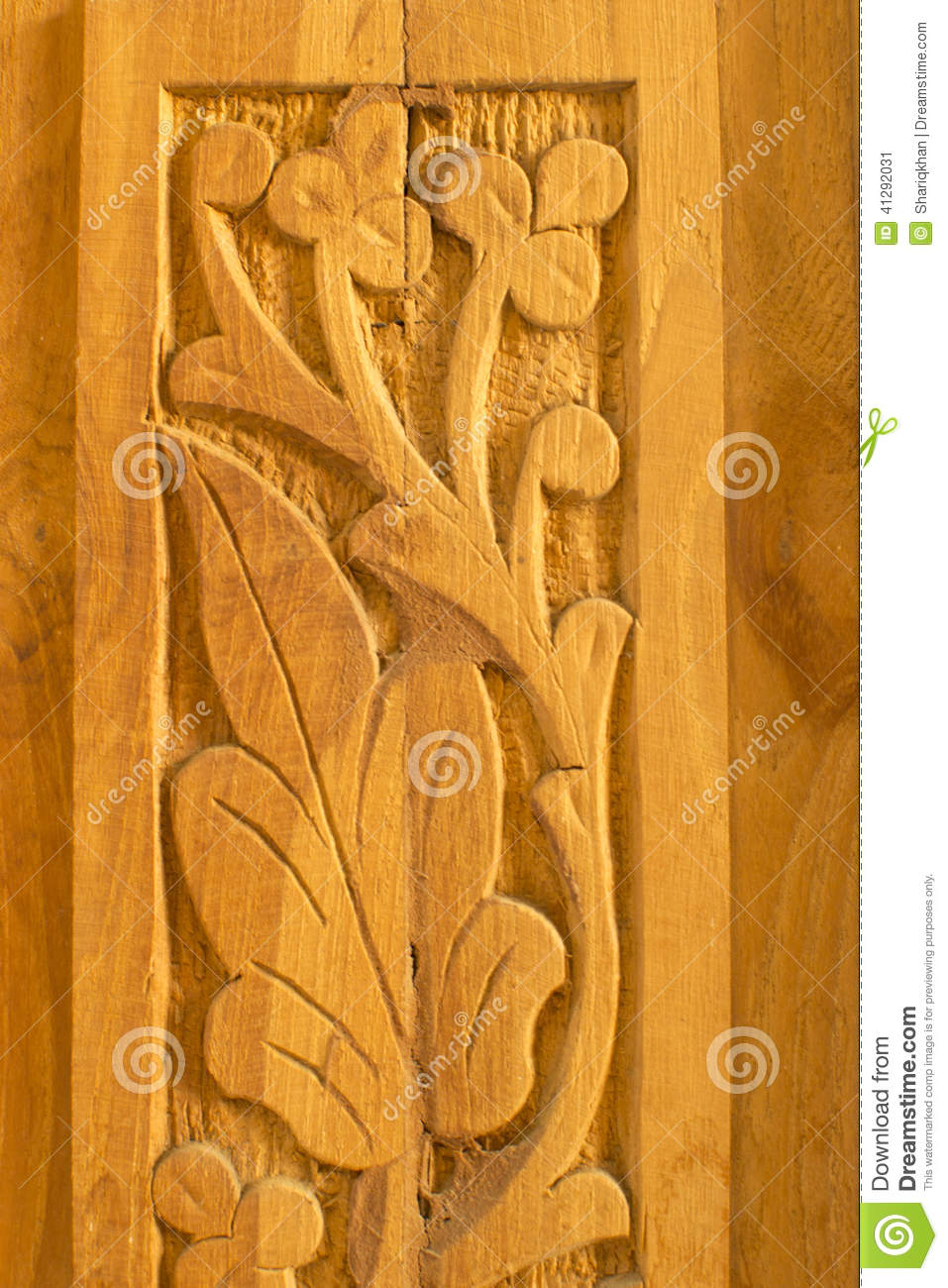 Wood carving art and pattern stock image image of motif for Wood decoration patterns
