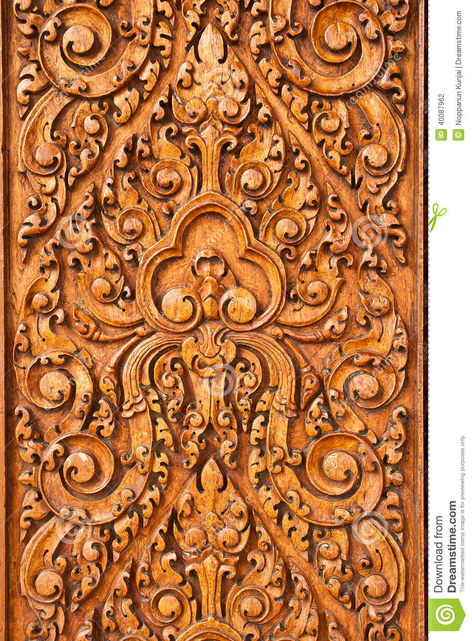 Wood Carving Stock Photo Image 40087962