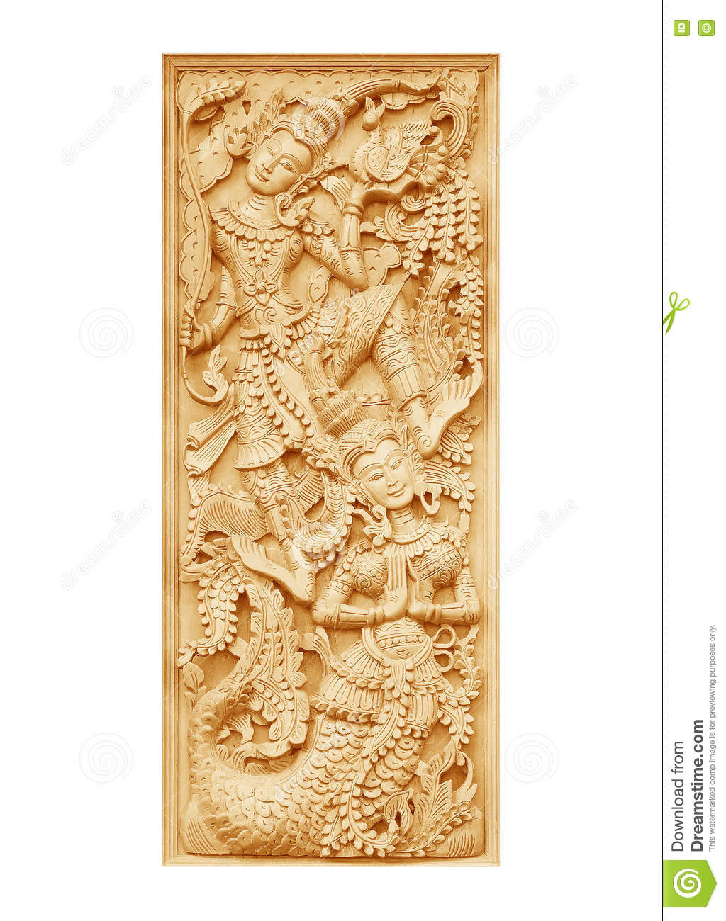Wood Carving Buddhist Temple Door Stock Photo - Image of buddhism ...