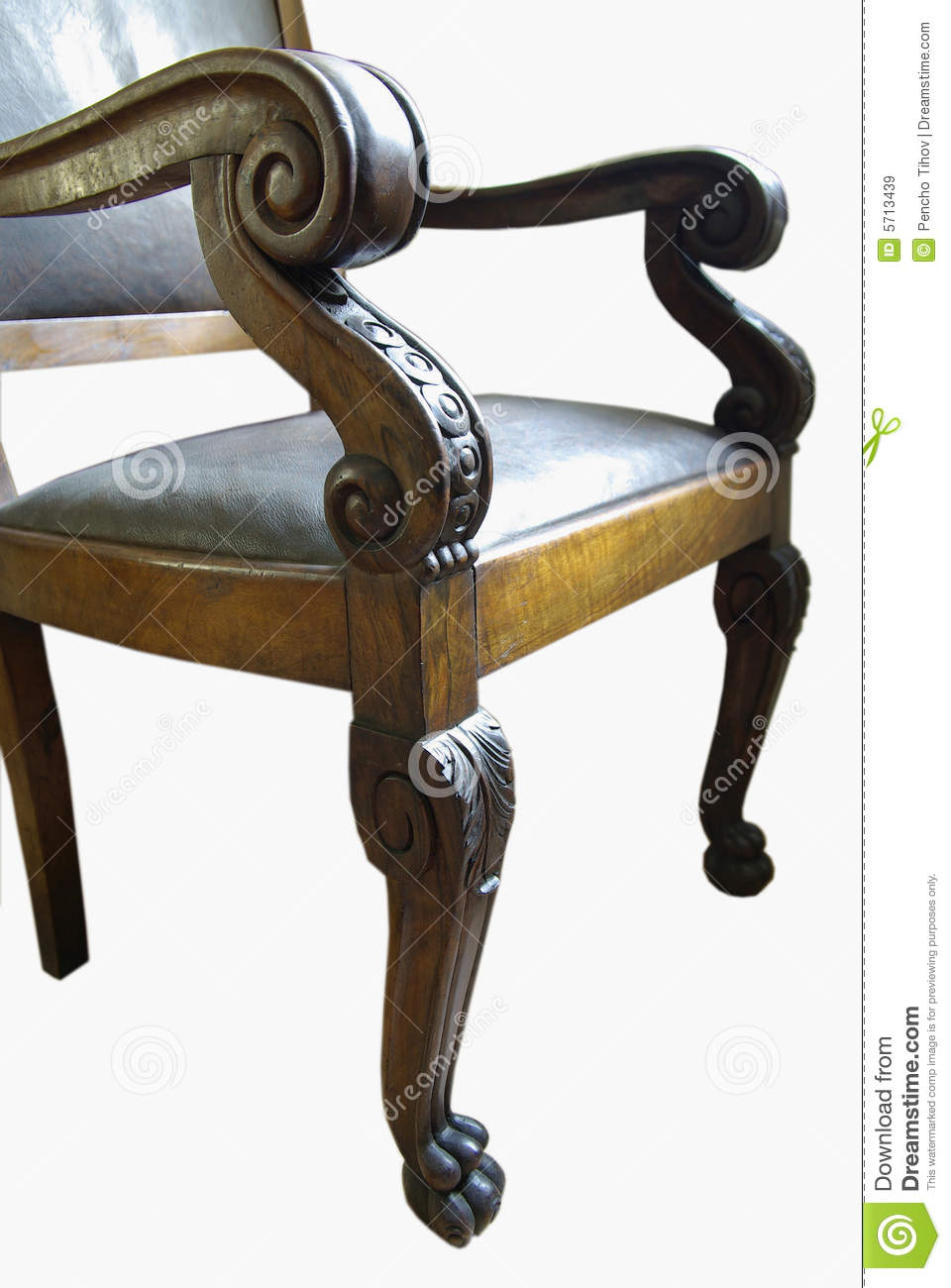 Wood-carving Chair Royalty Free Stock Images