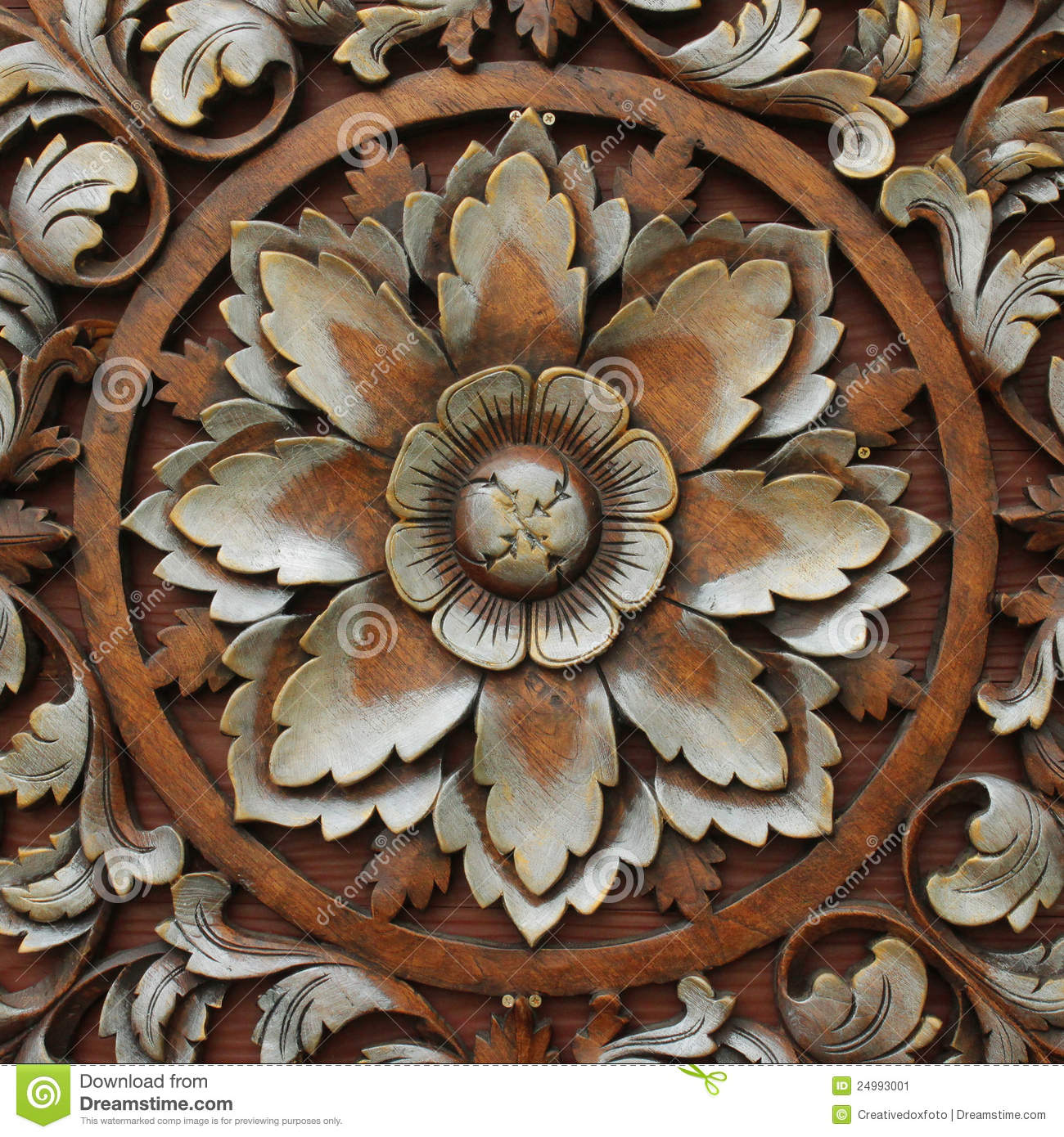 Wood Carving Patterns Stock Image - Image: 24993001