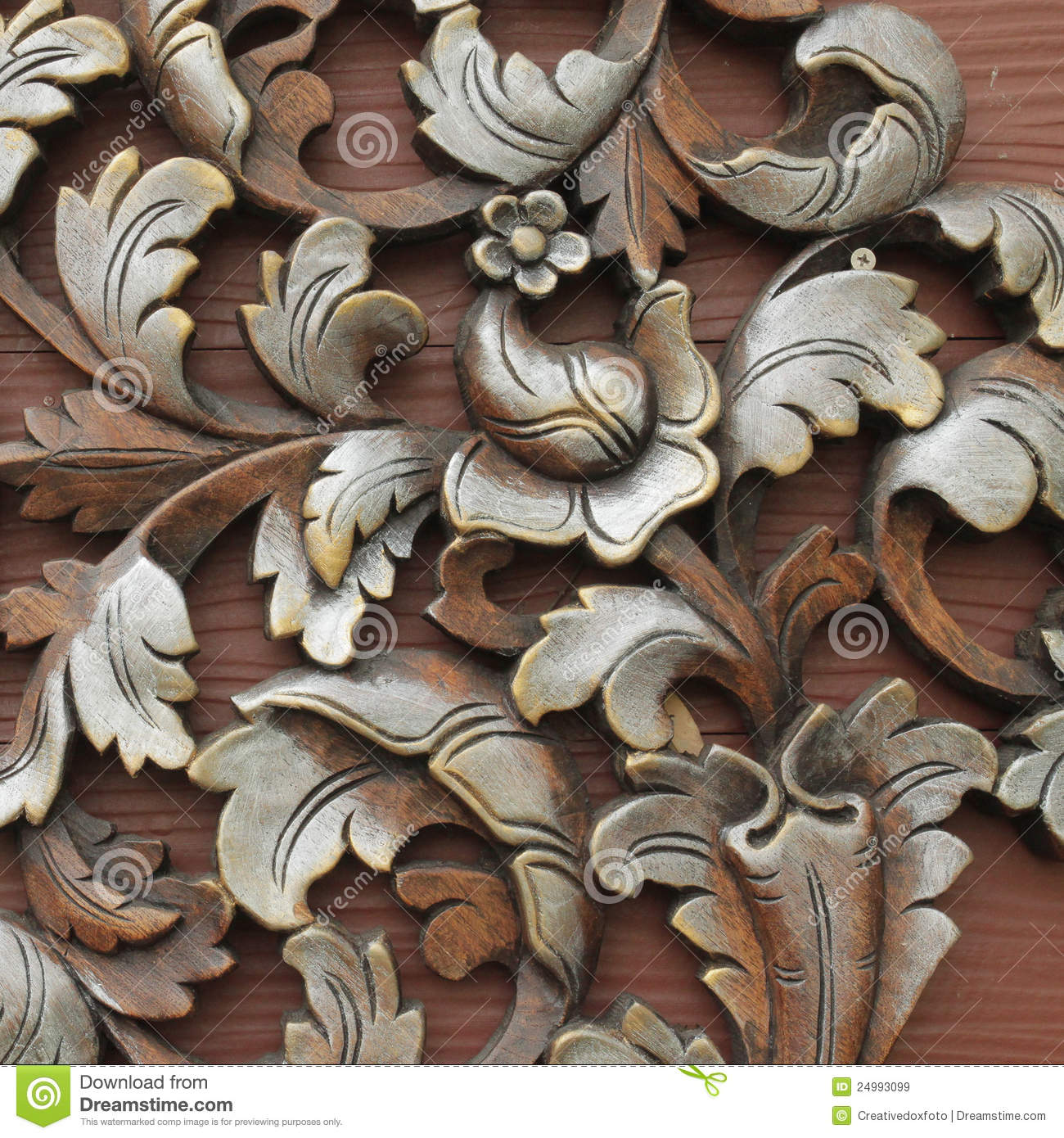 Wood carving patterns stock image of abstract