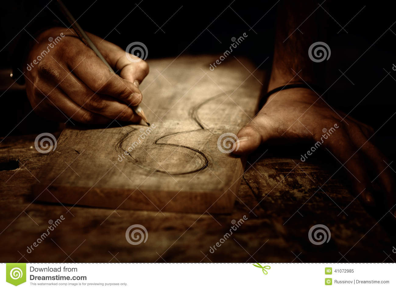 Download Wood carving stock image. Image of hands, handmade, process - 41072985