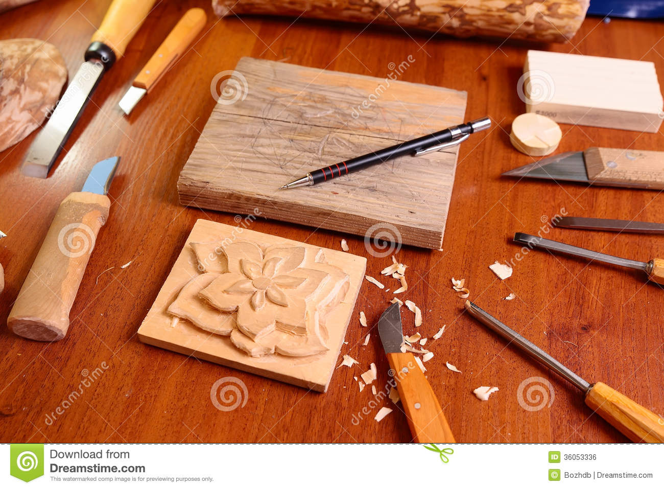 Wood Carving Tools The wood carving tools with
