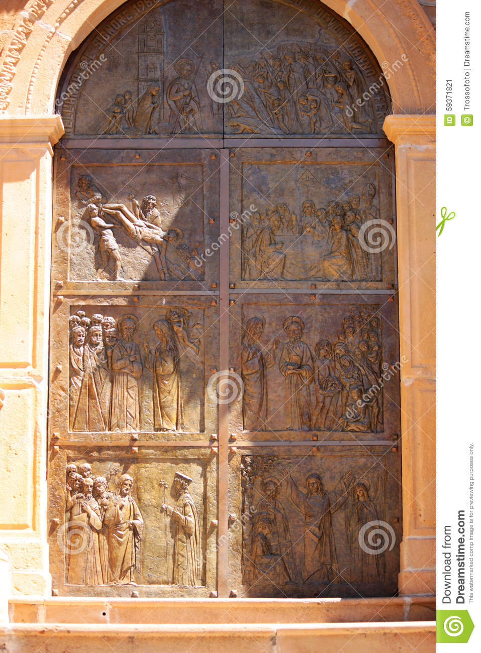 Wood carvings stock photo image