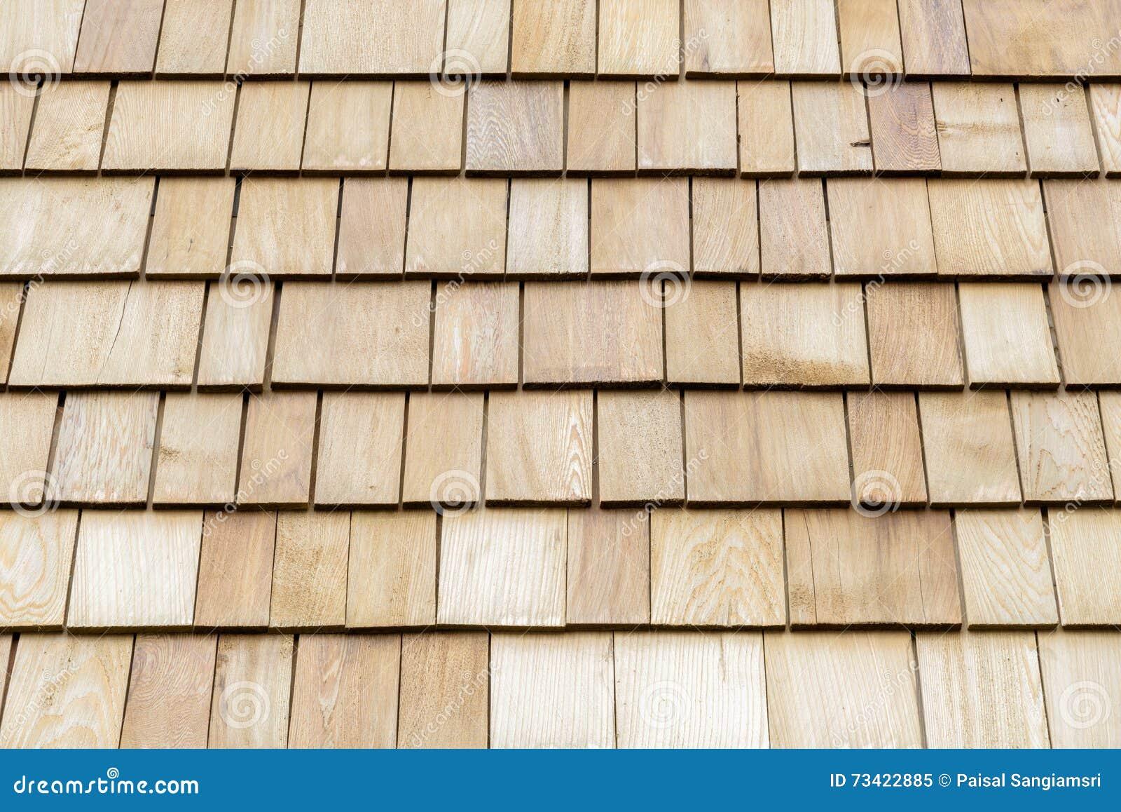 Cedar Shake Shingles On Roof Stock Photography