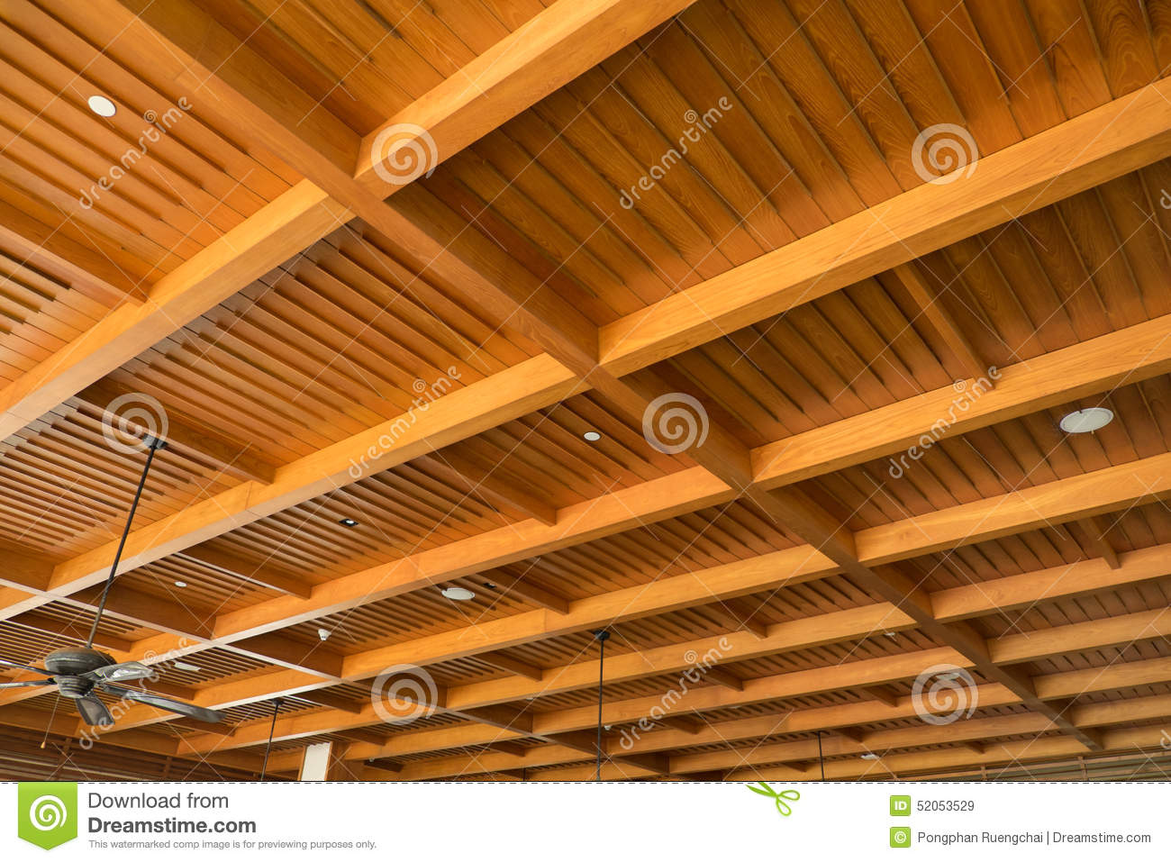 wood ceiling stock image image of design structure