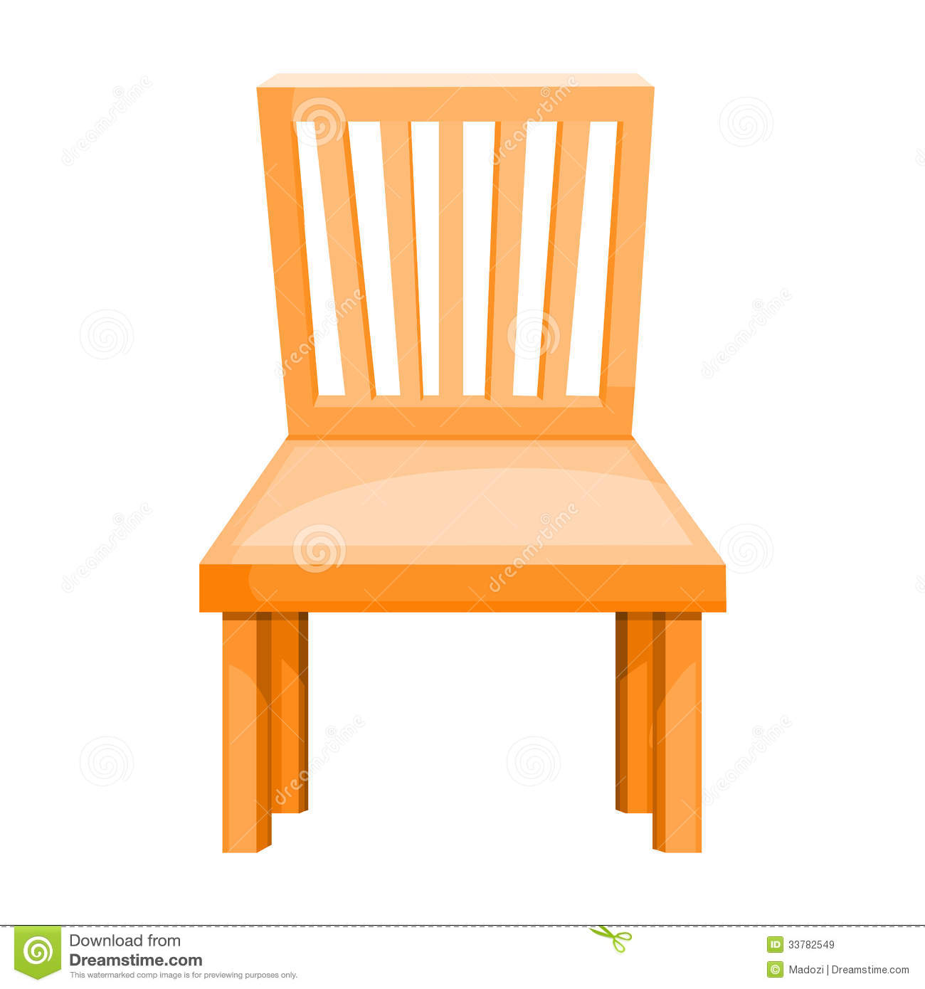 Wood Chair Isolated Illustration Stock Vector Image